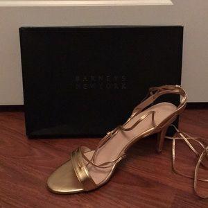 Barney's New York. Shelia Leather Lace Up Sandal